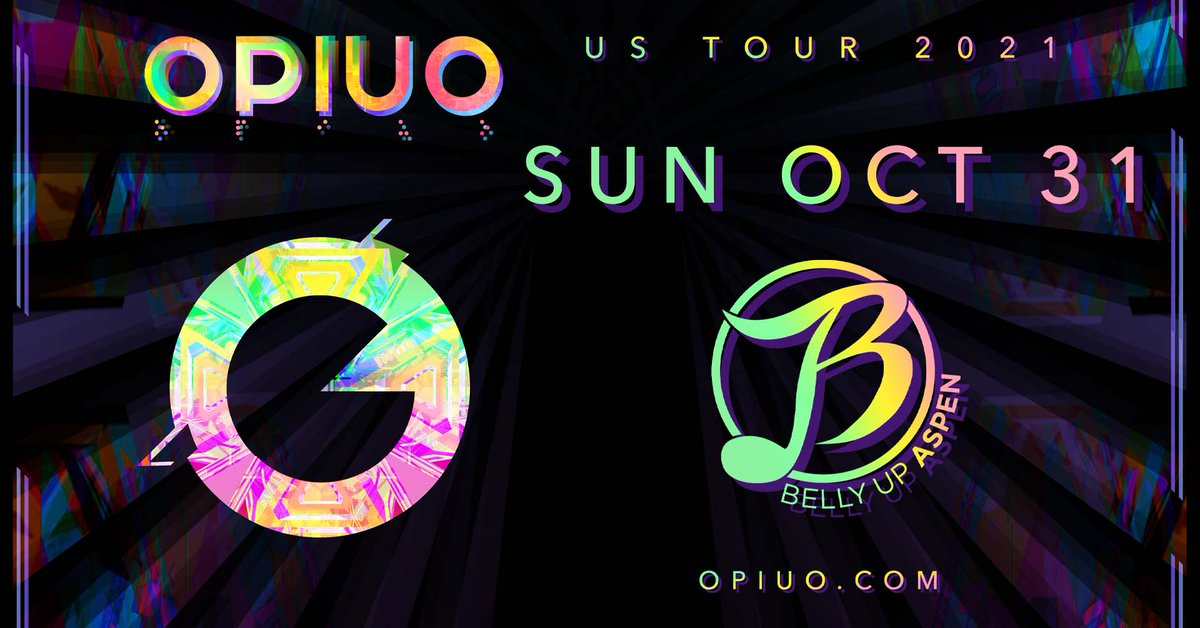 Celebrate Halloween with @OPIUO's funkadelic bass heavy creations 10/31! Tickets: ow.ly/VARu50G6qjT