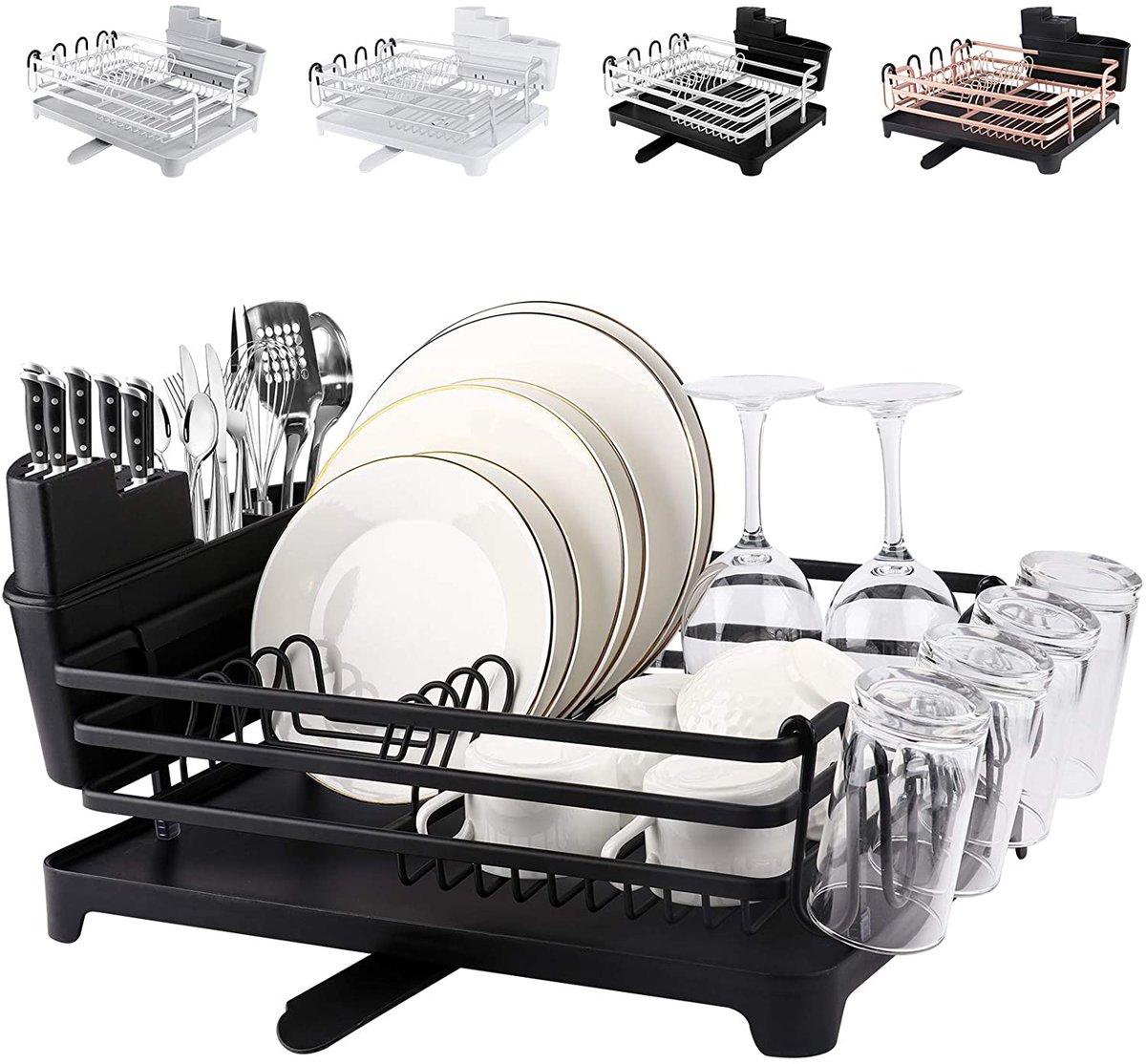 ROTTOGOON Aluminum Dish Drying Rack  Only $28.04!
