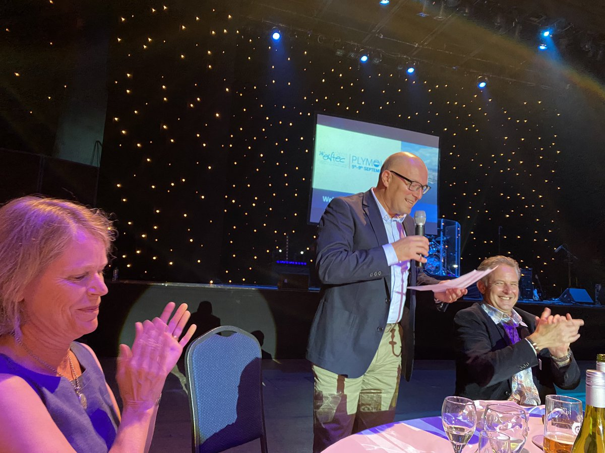 test Twitter Media - Gala dinner @ewtec2021 with leader of Plymouth City Council Cllr Nick Kelly @NKelly_IFA giving the City welcome to the attendees. Thanks to  @DeborahGreaves1 and team. We look forward to seeing at the next @EWTEC in Bilbo in Sep 2023. https://t.co/Lj8Fofc119