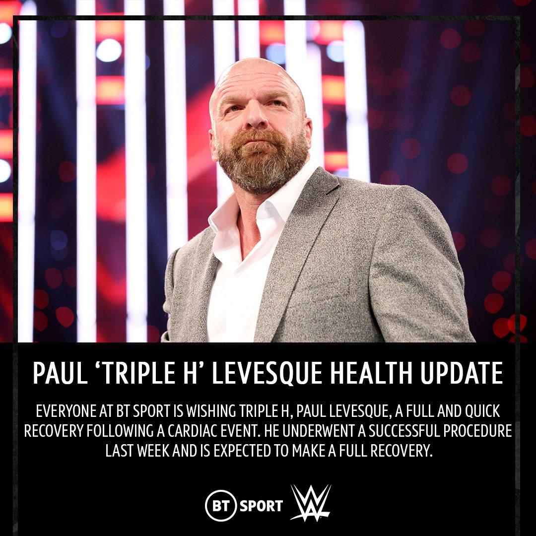 Get well soon, @TripleH 🙏