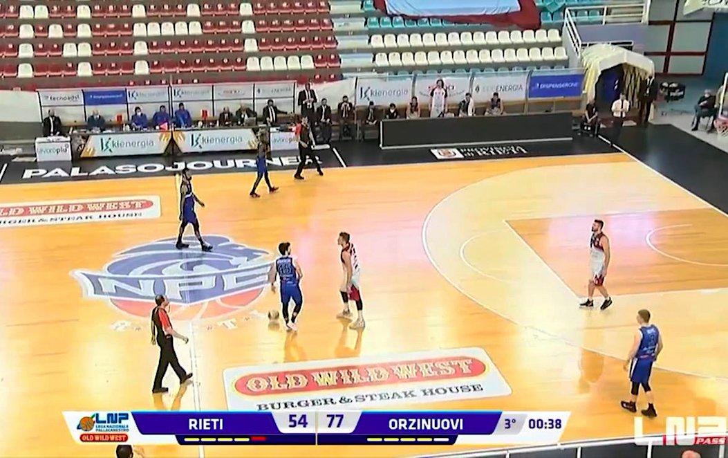 A2 – Rieti resta con un solo giocatore a 37″ dalla fine del terzo quarto, vince Orzinuovi