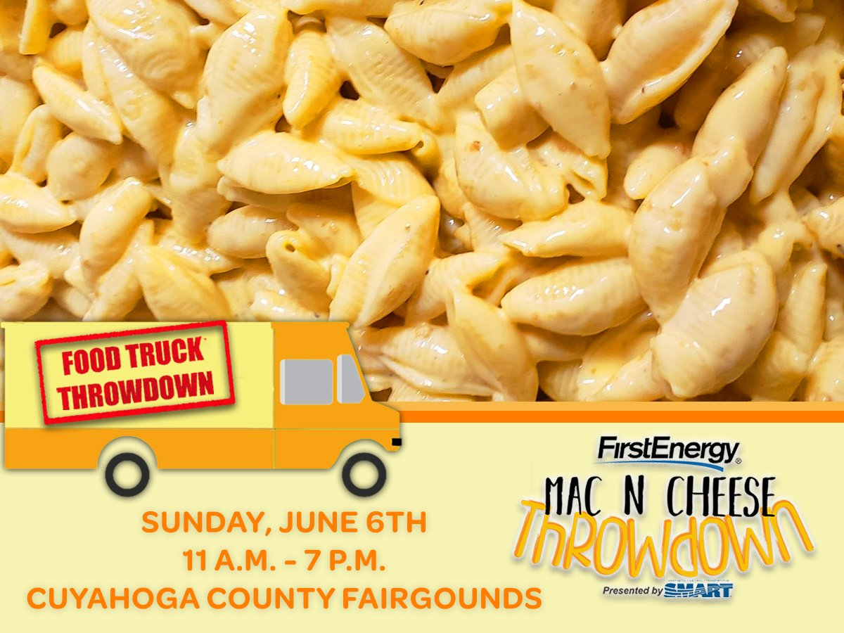 Have ooey-gooey fun #volunteering at the #Cleveland Mac 'N' Cheese Throwdown on Sun. June 6th 10a-8p (4-hr. shifts, registration, direct traffic, food truck assistant for #CLEnonprofit at #CuyahogaCounty Fairgrounds. 216-391-9500 x 2123  @WAGS4KIDS