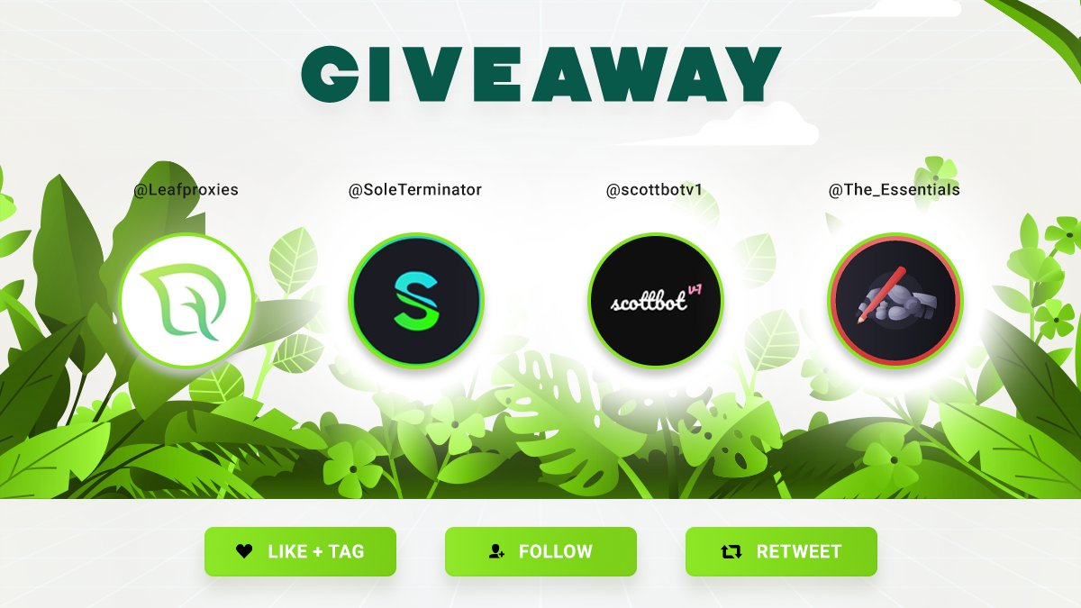 🔥 GIVEAWAY 🔥 To Win : - Follow @Leafproxies @SoleTerminator @scottbotv1 @TheEssentiais - RT - Like - Tag a Friend Make sure to follow all these steps!  Prizes 🎁 - 2 X 4 GB Residential Plan - 1 X SoleTerminator Copy - 1 X ScottBotv1 Copy - 1 X The Essentials Month Membership https://t.co/D5ZGxSUNsQ
