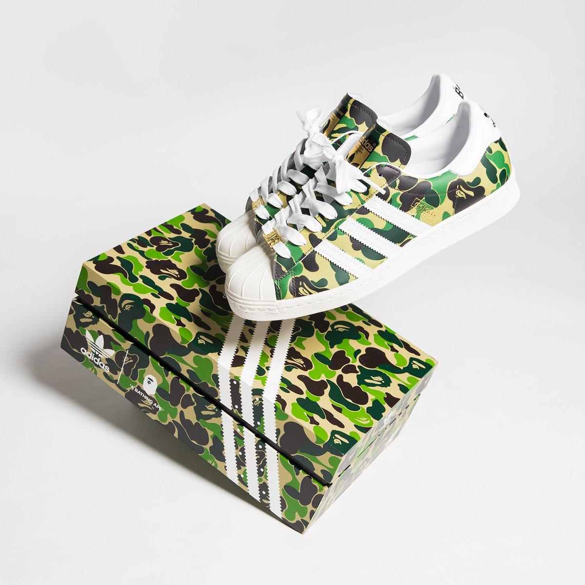LIVE via Nakedcph BAPE x adidas Superstar 80s =