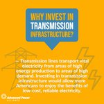Image for the Tweet beginning: #Transmission lines transport vital #electricity