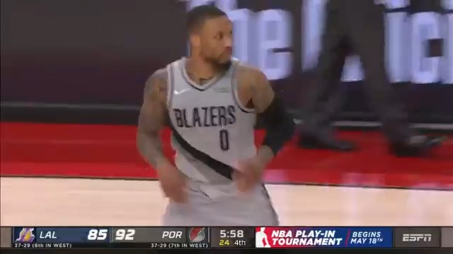Dame scored 38 PTS on just 18 shot attempts! 🤯  The @trailblazers move into sole possession of the No. 6 seed out West. #RipCity https://t.co/dI9yhZtxHm