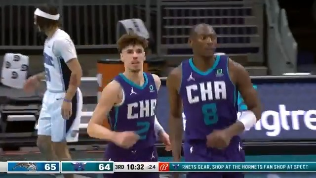 LaMelo Ball tallied 27 PTS, 6 REB, 6 AST in the @hornets W!  #NBARooks x #AllFly https://t.co/vP55wzMSuI