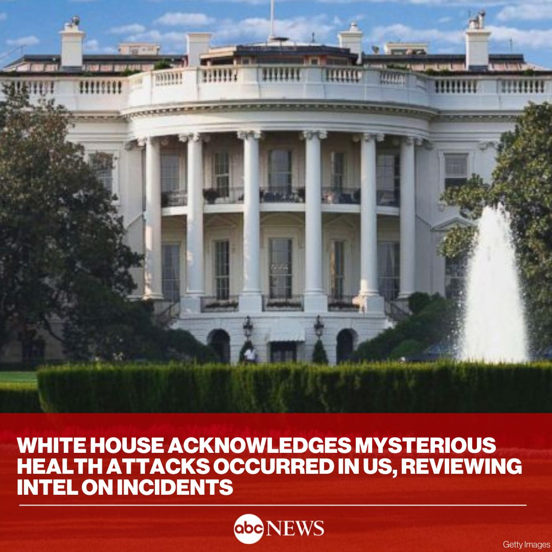 The mysterious health incidents that have affected dozens of U.S. personnel around the globe have also occurred within the United States, the White House confirmed for the first time. https://t.co/q46ITHsu0J https://t.co/AZEsKfKn5Q