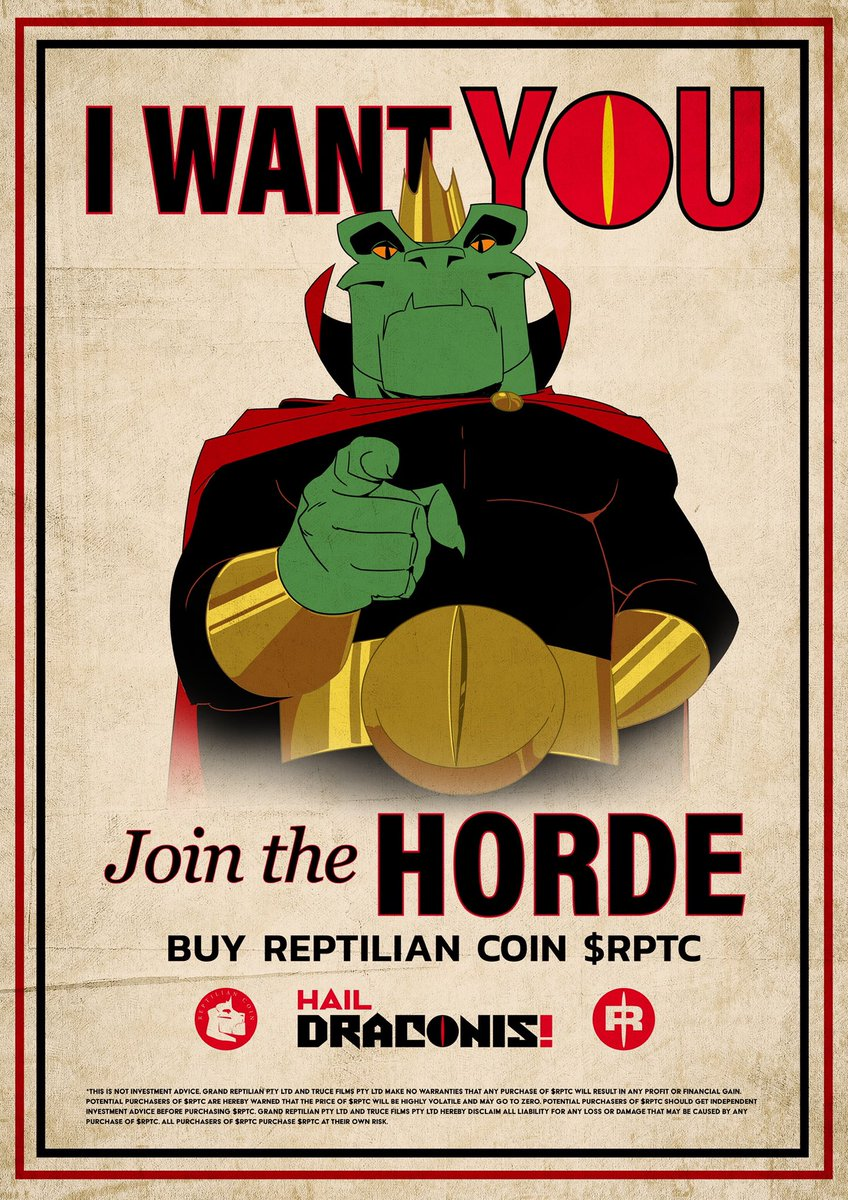 @HailDraconis is being produced by production company @trucefilms and animation studio @_dirtypuppet. There will be #nft exclusives for holders of $RPTC. The token and the animation will be intrinsically linked. Mainstream animation with a crypto economy. https://t.co/AvIb03m2Zz https://t.co/8THWzUiw87