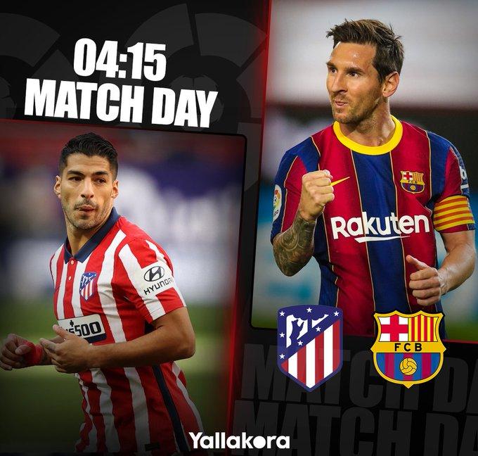 مباراة اليوم  برشلونة اتليتكو مدريد  الدوري