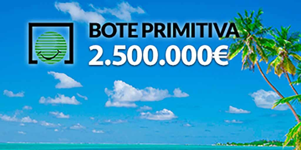 Bote en #laprimitiva de 2.500.000€. PUFFF que harias. (link:   #reducidasprimitiva https://t.co/H8oNSOwUwp https://t.co/C7b16TLJPJ