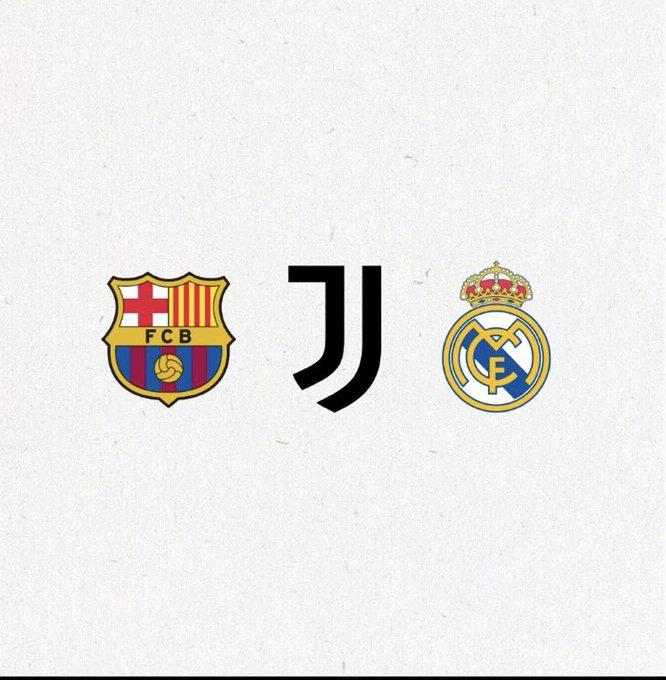 ريال مدريد و برشلونة و يوفنتوس في بيان