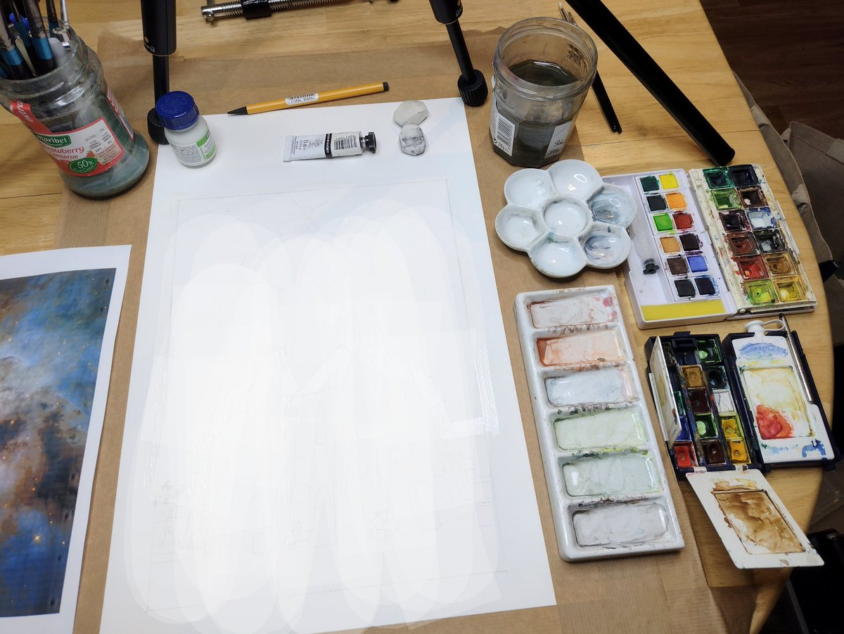 test Twitter Media - Saturday starting a new watercolour (might also be timelapsing it) content secret for now) https://t.co/cLNj806dYz