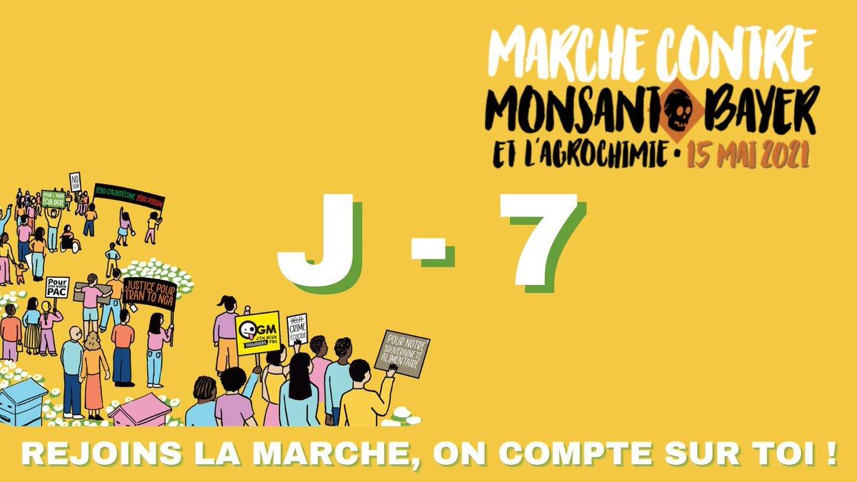 La #MarcheMonsanto2021, c'est samedi prochain !  Nous apporterons notre soutien aux victimes de l'#AgentOrange, à #TranToNga, présente en cortège, mais aussi à celles du #Chlordécone et des autres pesticides.  Bénévoles▶ https://t.co/eUoZ7cxUWK Infos▶ https://t.co/HZ3Kw230C0 https://t.co/7ZfZJWpIT7