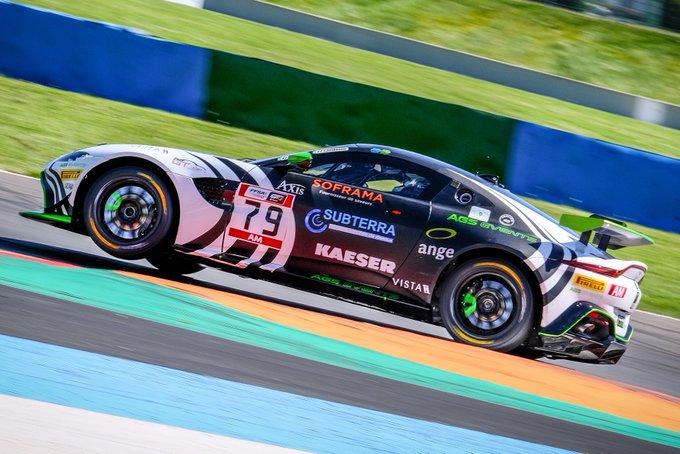 Pole! The Aston Martin Vantage…