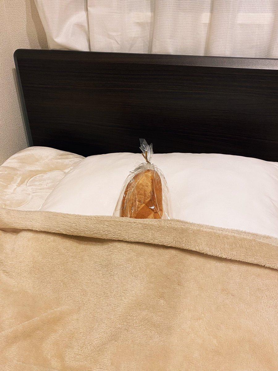 なんか愛しかったのでパン、寝かせた。かわいい。