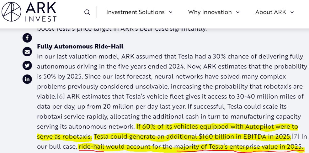 The ARK team either knew FSD was bogus and knowingly pimped the fraud, or they are really bad at research.  Neither is good and yes I'm looking at every RIA that chased her returns because none of you do any diligence either.