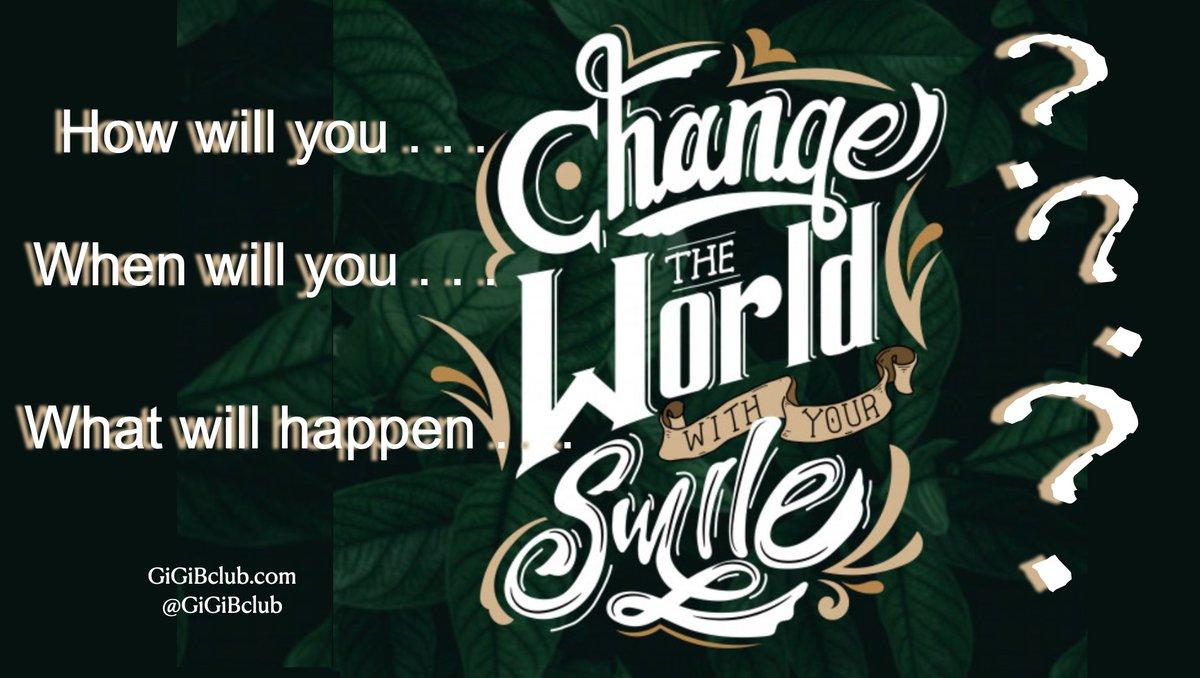 What will happen when you change the world with your smile? #FamilyTrain #JoyTrain #GoldenHearts #StarfishClub #ThinkBigSundayWithMarsha  #SuccessTrain #GoalAchieversCommunity #Friday # @ReikiTree @Bijan_Cyrus @loveGoldenHeart @Dianne__LadyD @1228erin @BethFratesMD @BabyGo2014 https://t.co/c9PmfBT2d2