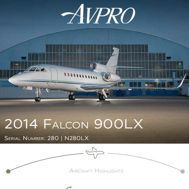 2014 #Falcon #900LX available at @AvproJets   Very low total time Engines and APU on MSP Gold More details at: https://t.co/P9BQoYjYC6  #bizjet #bizav #aircraftforsale #privatejet #privateflying #jetforsale #businessaviation