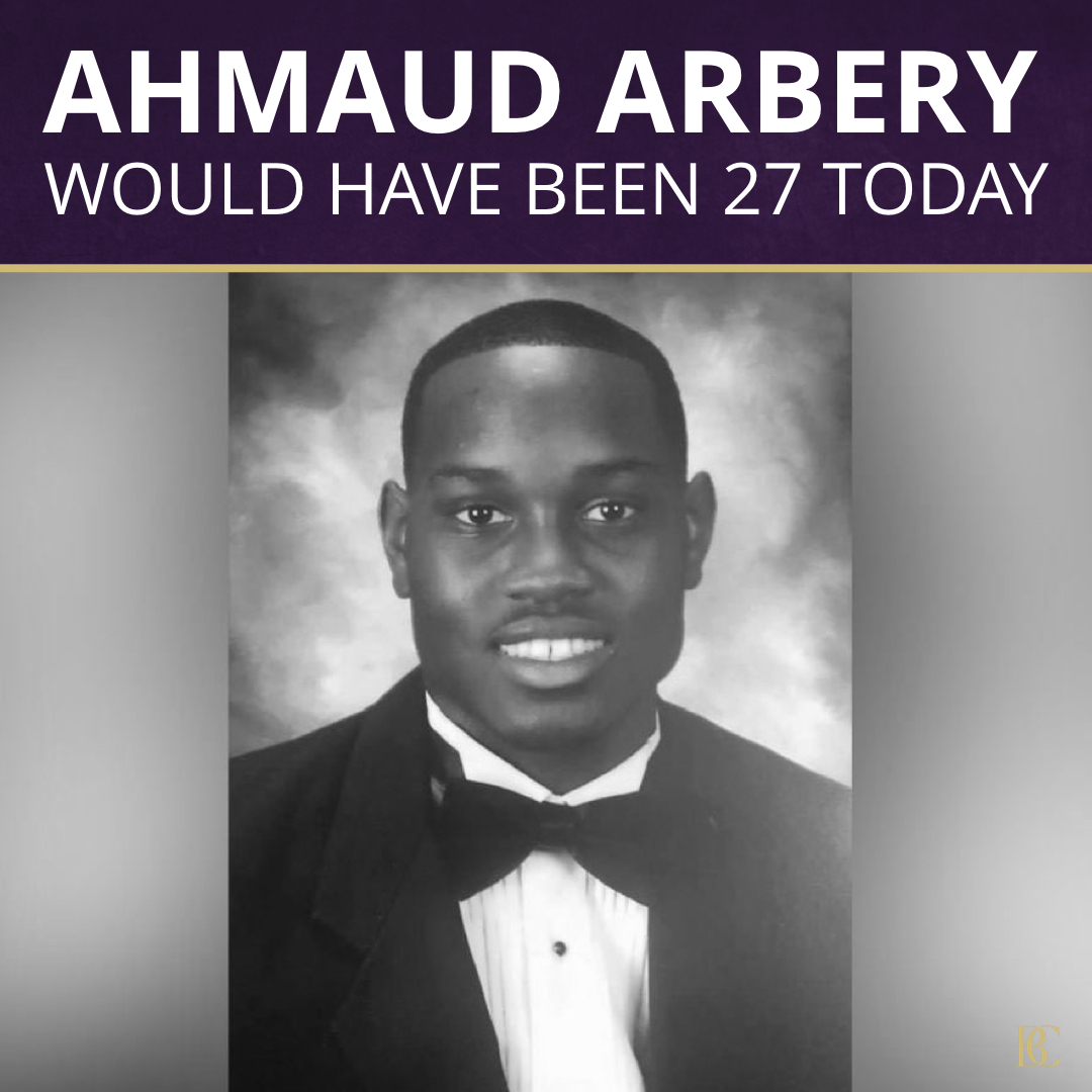 Today would have been Ahmaud Arbery's 27th birthday! Travis & Gregory McMichael and Roddie Bryan have been charged with murder & hate crimes for killing Ahmaud while #JoggingWhileBlack, but we must continue the pursuit of JUSTICE with their convictions! https://t.co/L6un7AJf6C