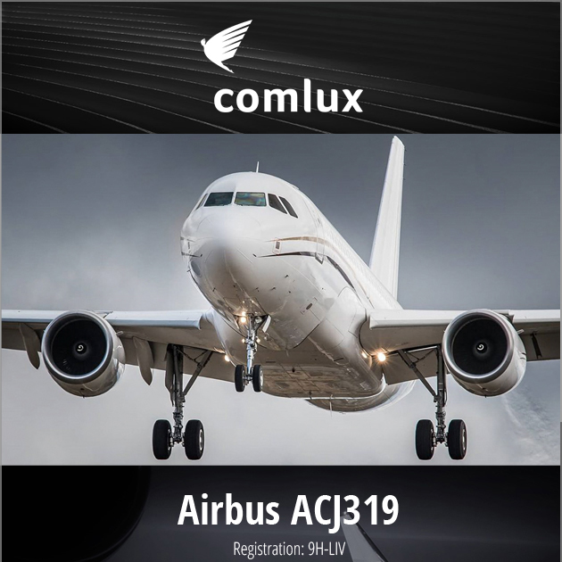 #Airbus #ACJ319 9H-LIV available for lease at Comlux Aviation ACMI and Block Hour Agreement Worldwide flexible base More details at: https://t.co/C43kbTKsw7  #bizjet #bizav #aircraftforsale #privatejet #privateflying #jetforsale #businessaviation