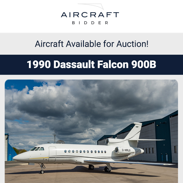 1990 #Dassault #Falcon #900B available for auction at Aircraft Bidder Engine & APU Enrolled on MSP Gold ADSB-Out, WAAS/LPV Approved More details at: https://t.co/oROYxkHwJF  #bizjet #bizav #aircraftforsale #privatejet #privateflying #jetforsale #businessaviation