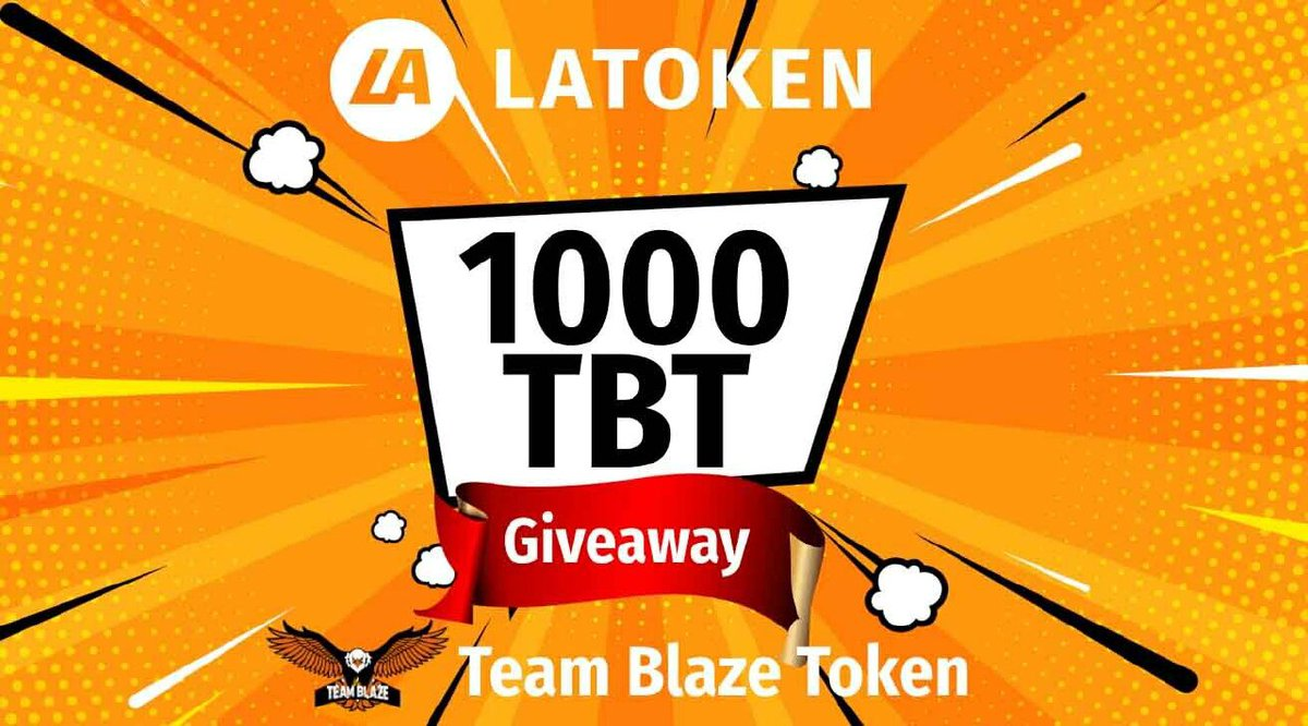 Hey, stand a chance to win 500 TBT tokens in the giveaway on LATOKEN. It's free, very easy, and fun.  https://t.co/yRKjA5wiFE #LATOKEN #TBT https://t.co/Yw1giJceBn