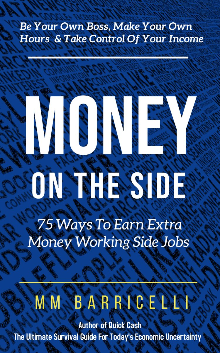 #Amreading #Newrelease: #Money on the Side 75 Ways to Earn #ExtraMoney Working Side #Jobs by MM Barricelli  Grab YOUR Copy NOW: https://t.co/tFFcX3QXQp via @amazon   #Bookboost #Mustread #IARTG #Writerslift #MakeMoney #Work #Workfromhome #sidehustle #books #newbooks #business https://t.co/uqIkdXDOyK