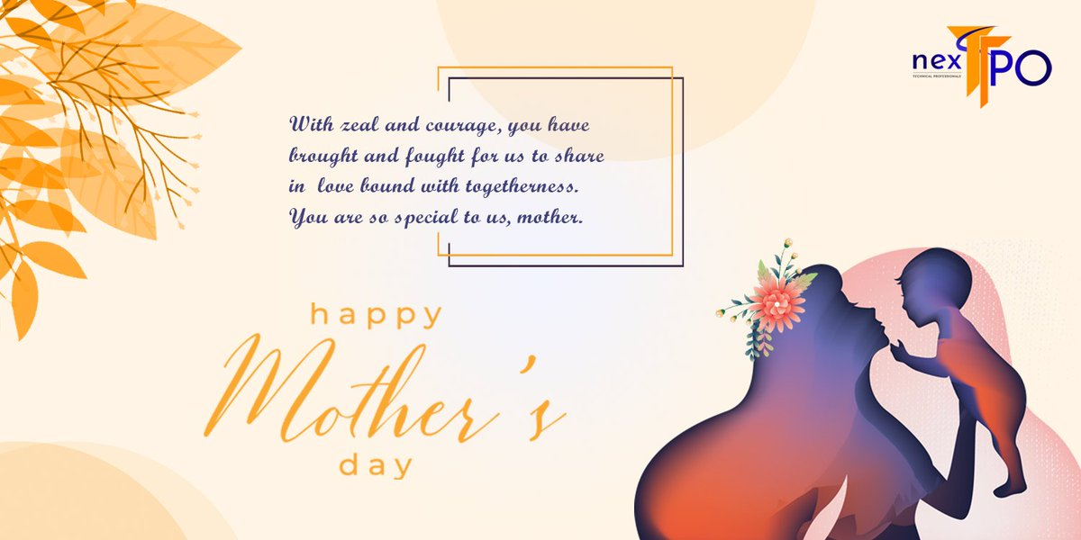 """With zeal and courage, you have brought and fought for us to share in #love bound with togetherness. You are so special to us, #mother.""  Wish You All #happymothersday❤️  #NextTPO #happy #MothersDay❤️ #celebration #Team #Congratulations  #MotherLove  #mothersdayspecial https://t.co/5QMAqYtoum"