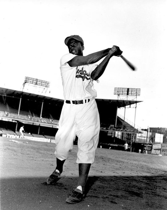 Jackie Robinson at Ebbets Field in Brooklyn on this date May 9 in 1951. Photo credit: AP. #BaseballGuterman #OTD ⚾️ https://t.co/3niA6E7j6z