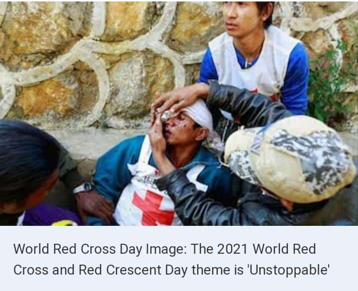 """#WorldRedCrossDay   Birth Anniversary of Henry Dunant   Theme 2021:""""Together we are Unstoppable""""   This Day Celebrates to Acknowledge the beliefs of the Red Crescent movement 🙏🙏 #nature #Unstoppable #climate #quotes #COVID19 #globalhealth #savetheplanet  Plant trees 🌲🌍 https://t.co/4CETGsaBbE"""