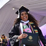 """🎓HPU's 2021 Commencement speaker Cynt Marshall tells HPU graduates: """"The ball is in your court."""" 💜  """"May God bless your hands as you pick up the ball. May God bless your feet as you take to the court. Congratulations, graduates.""""   #HPUGrad2021 #HPU365 #HPUTraditions #HPUFamily"""