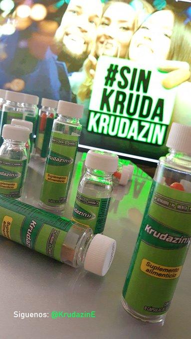 2 pic. Si disfrutan la fiesta,🎉 que sea ¡SIN CRUDA!.  #Krudazin es el suplemento que te mantendrá aliviado