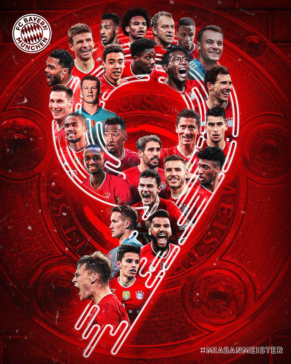 Mit einer Galavorstellung hat der FC Bayern heute eindrucksvoll bewiesen, warum er zurecht zum neunten Mal in Folge Deutscher Meister geworden ist. Unfassbar eindrucksvoll. Herzlichen Glückwunsch und auf geht's zu weiteren Großtaten! #Immerweiter #MiaSanMeister 🏆🏆🏆🏆🏆🏆🏆🏆🏆