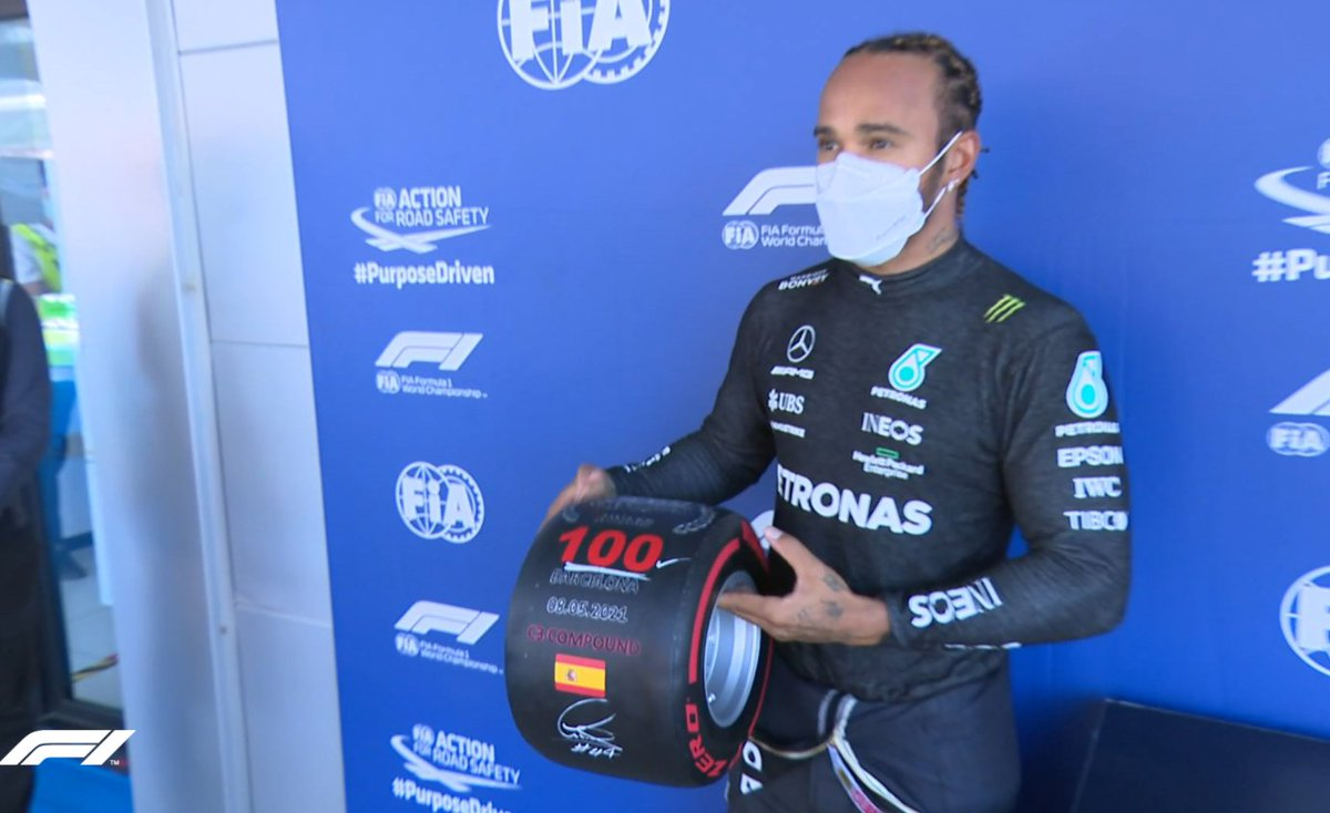SpanishGP Lewis Hamilton claims 100th pole in qualifying for Spanish Grand Prix