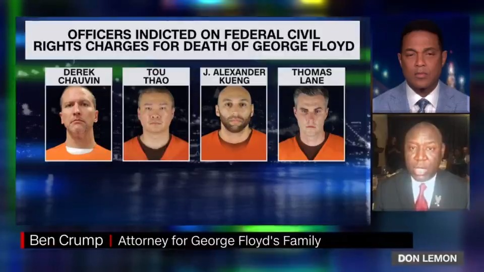 All FOUR of these officers deprived George Floyd of his RIGHT to life!! This indictment sends a strong message — We will NOT allow our civil rights to be violated. We must pass the George Floyd Justice in Policing Act by May 25, the 1-year anniversary of his murder! https://t.co/gOCcelCYIt