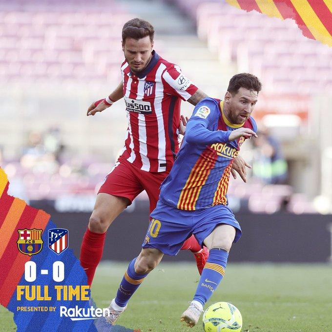 Skor akhir Barcelona 0-0 Atletico Madrid