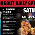 Be a Wrap star! $7.99 ALL WRAPS all day today! Plus, $7 32oz Signature Cocktails! 🍹😋🍹 Join the fun at DJ's!