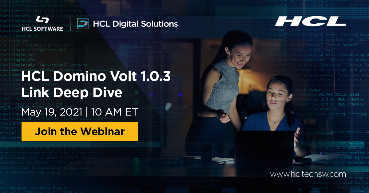 #dominovolt #domino #HCLDomino #HCLSoftware https://t.co/9FyPWkf5AG