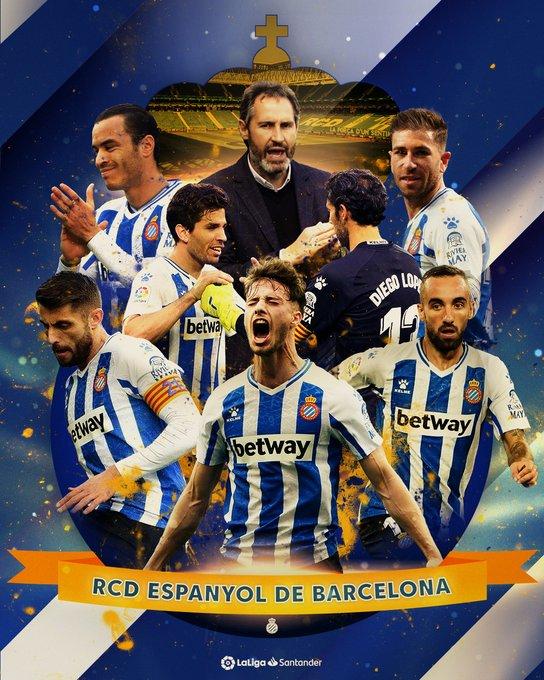 RT :  رسميانادي اسبانيول برشلونة   يعود رسميا