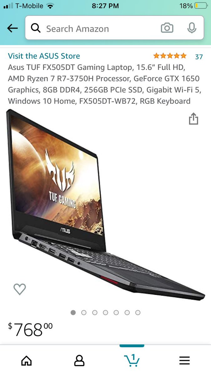 Currently saving up for this laptop it's a good price for the specs,it's much better than my Xbox. And I can do a lot more for sure 😂 https://t.co/4hri3Mygcj