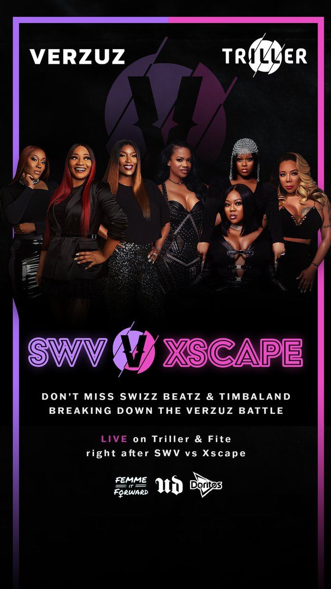 Join us after the SWV #VERZUZ Xscape battle for an after show breakdown with @THEREALSWIZZZ and @Timbaland!   ⬇️⬇️⬇️ https://t.co/yUgW2Ha34x https://t.co/K6epK6PNzN