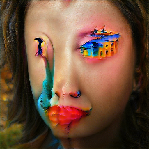 'colorful surrealism' Big Sleep Text-to-Image