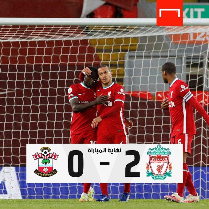 ليفربول يفوز ويرفع رصيده إلى 57 نقطة. الريدز