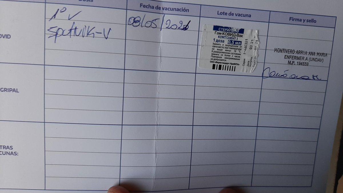 #GraciasPresidente @alferdez Por la vacuna Sputnik recibida el día de hoy en Caba. https://t.co/pNgQklJ422 https://t.co/BE6ot9Lor9