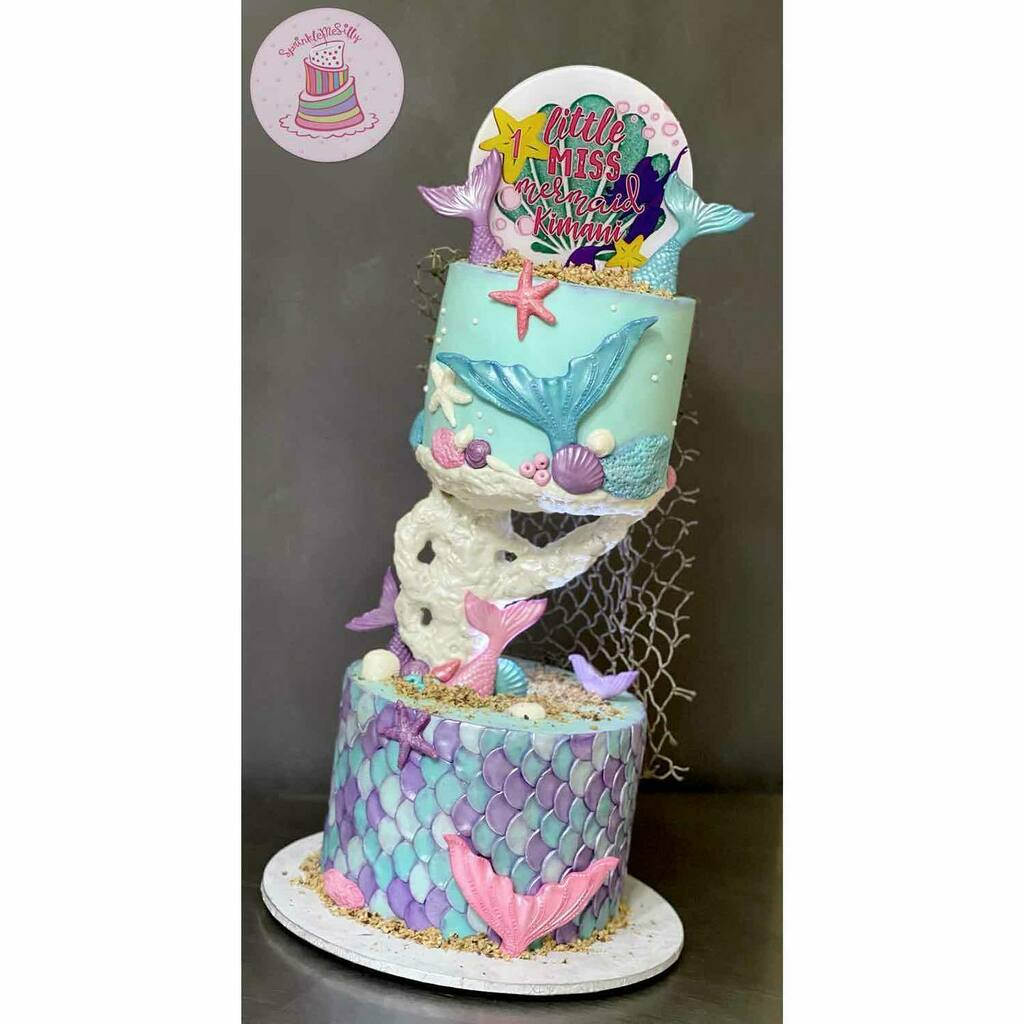 Mermaid themed birthday cake for for Kimani 🧜‍♀️⁣ ⁣ .....⁣ #yummy #cakes #delicious #cakegram #yum #sweettooth #foodie #baking #cakedesign #igcakes #cakeboss #cakesofinstagram #cakes #cakeinspiration #sweet #eat #instafood #instacake #buttercream #in…