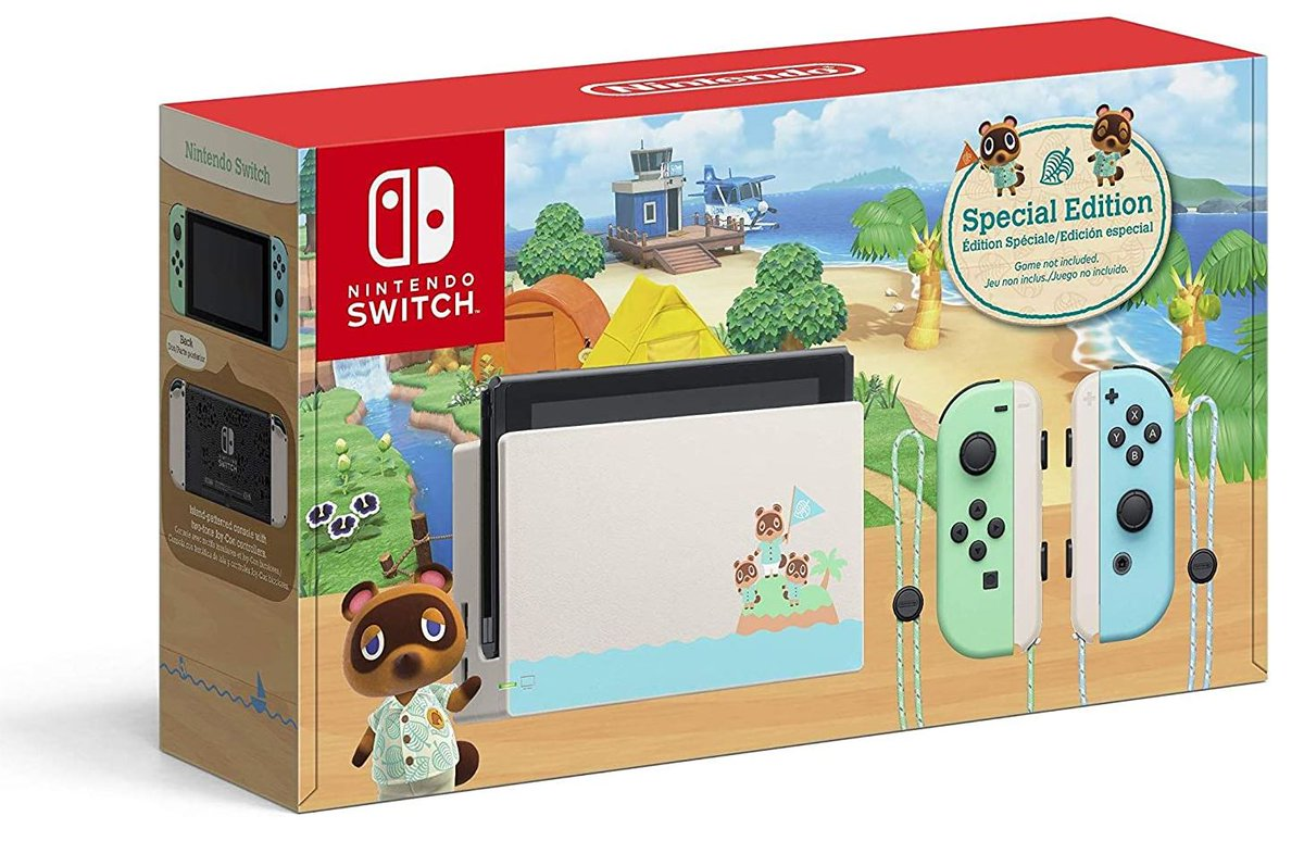 Nintendo Switch - Animal Crossing: New Horizons Edition $293.35 via Amazon (Prime Eligible).