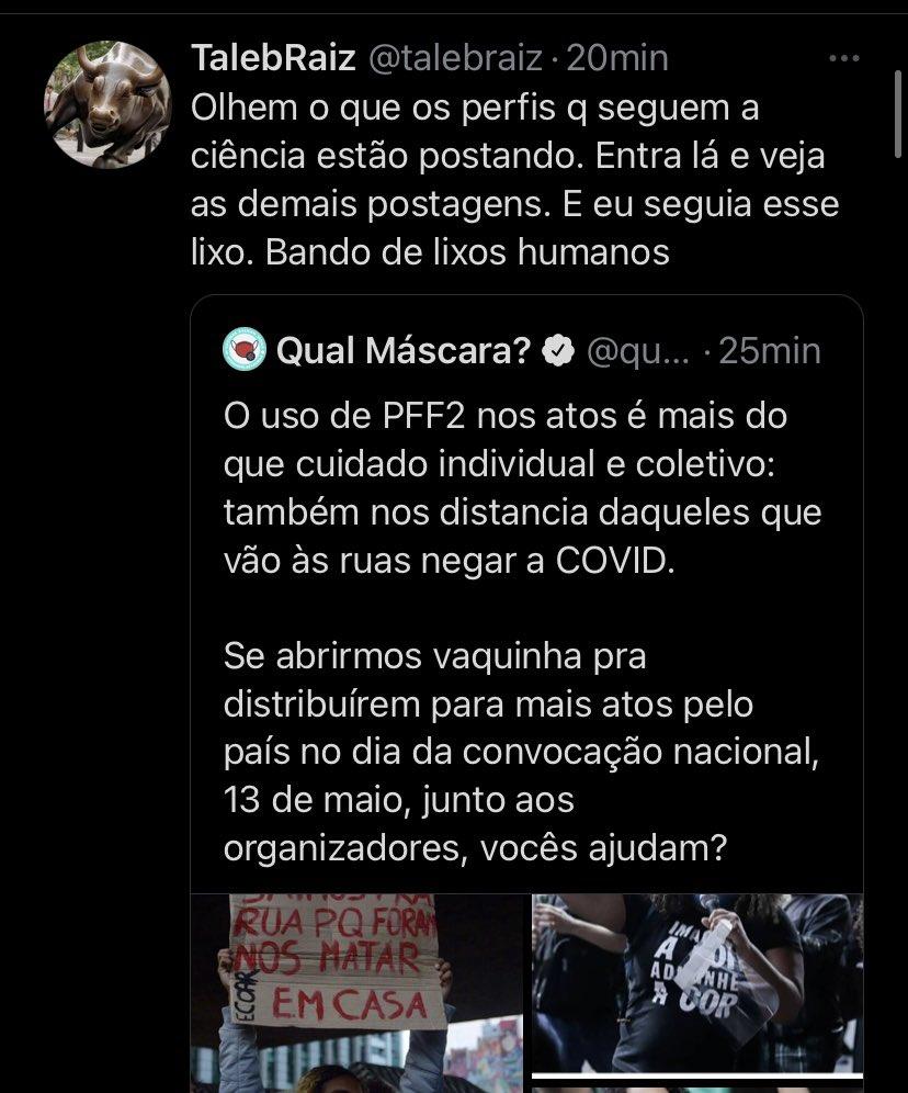 A maior chacina da história do Rio de Janeiro e a pessoa fica ofendida que o perfil que ela seguia se opõe à violência sistemática e ao genocídio do povo negro.  Aqui a gente tem lado. É o lado da ciência e das minorias sociais. Se for procurar neutralidade, aqui não tem. https://t.co/RtmayB1u25