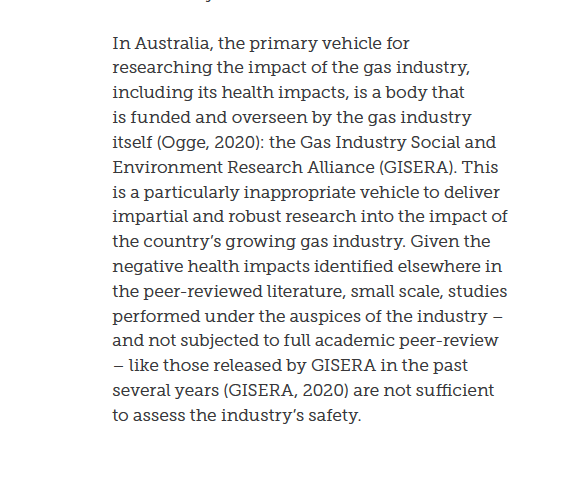 There's just one body tasked with looking at the social and environmental impact of gas extraction in Australia: It is funded by the gas industry. Industry partners have significant control over the research projects. Oddly, its findings always follow gas industry interests.
