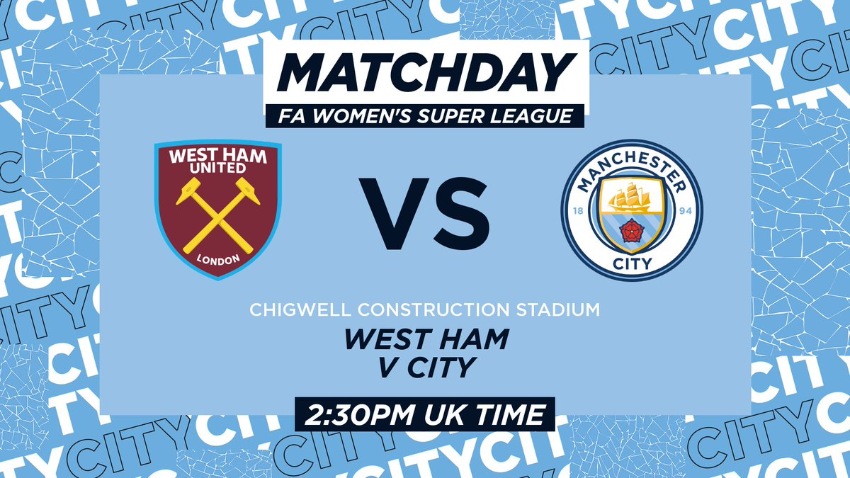 𝐈𝐓'𝐒 𝐌𝐀𝐓𝐂𝐇𝐃𝐀𝐘! ⚽  City take on @westhamwomen in the @BarclaysFAWSL 💪  🔷 #ManCity | https://t.co/HkTzfLv0HJ https://t.co/dAAciQQnvi